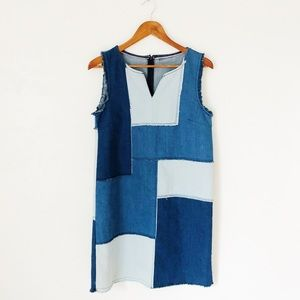 Vintage Denim Patchwork Dress
